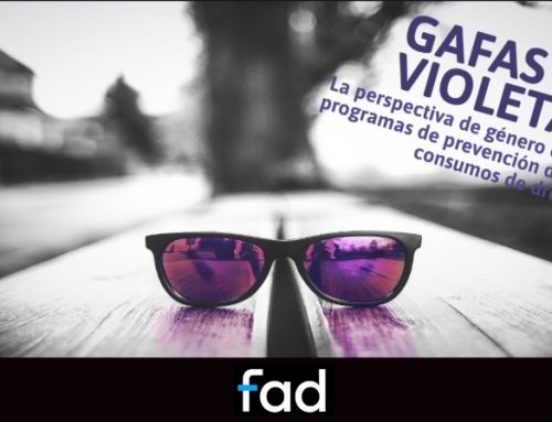 """Curso Online: """"GAFAS VIOLETA. La perspectiva de género en los programas de prevención de los consumos de drogas."""""""